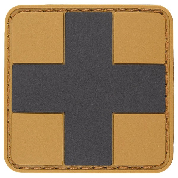 """First Aid"" Rubber Patch, Klett, coyote-schwarz"