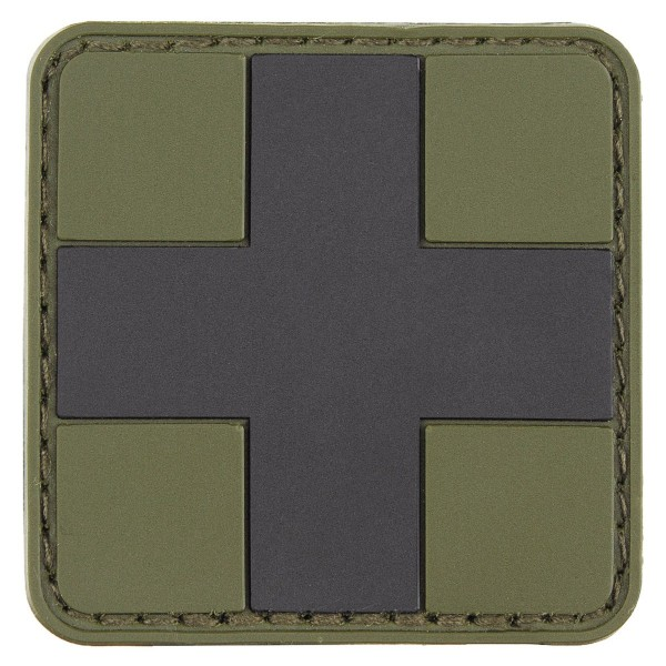 """First Aid"" Rubber Patch, Klett, oliv-schwarz"